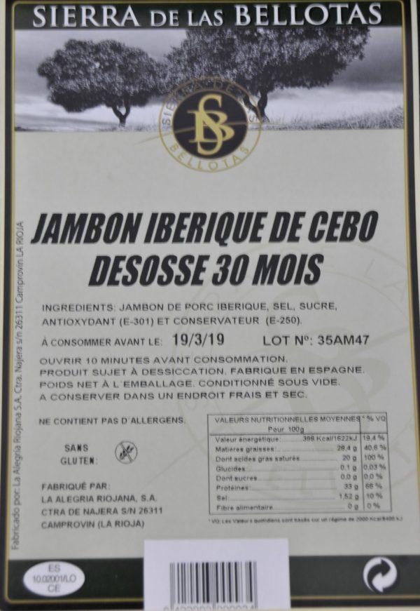 Jambon Ibérique Cebo